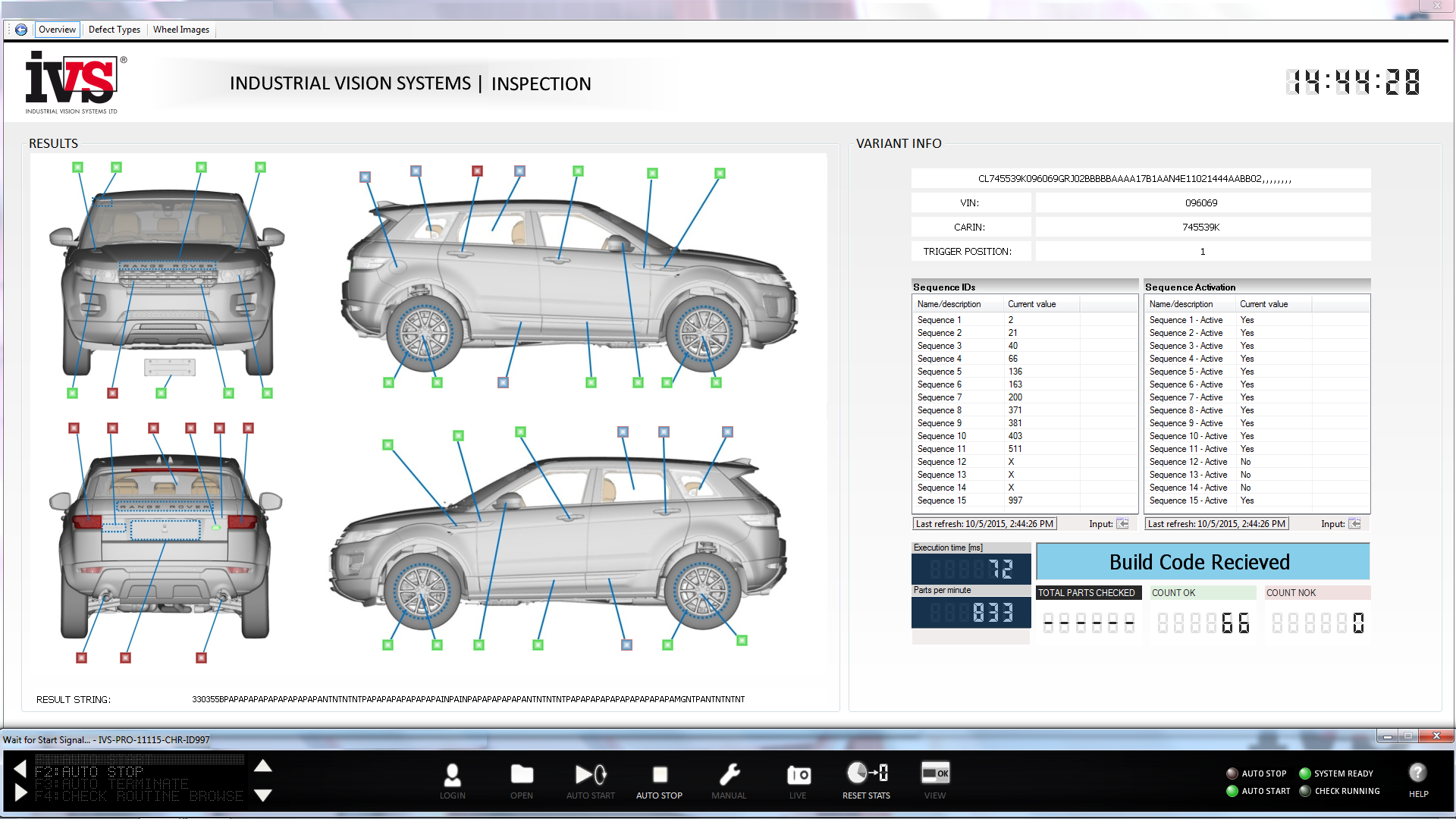 Industrial Vision Systems Car Conformance Inspection